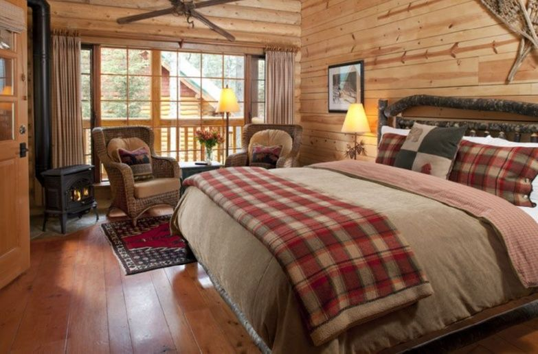 Pin For Later Cozy Log Cabin Living Rooms Cathedral Mountain