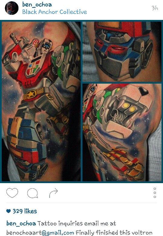 Voltron Tattoo by Ben Ochoa | Random Likes | Tattoos, Ink