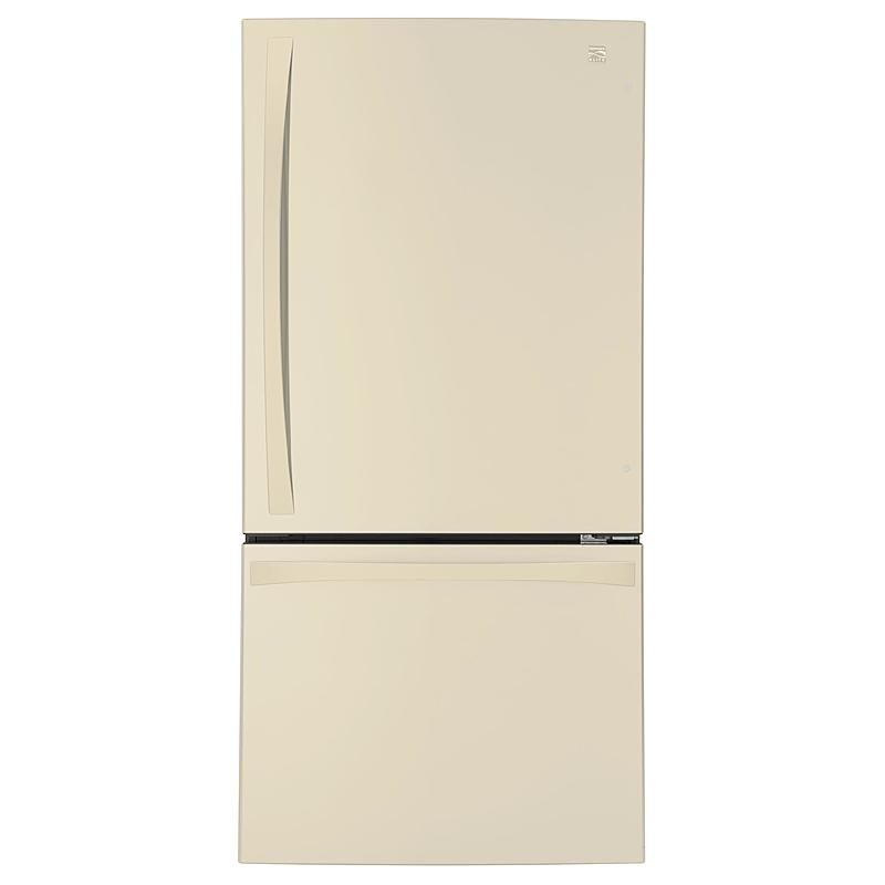 Kenmore Elite 79044 24 1 Cu Ft 33 Bottom Freezer Refrigerator Ndash Bisque Bottom Freezer Refrigerator Refrigerator Fridge Organization