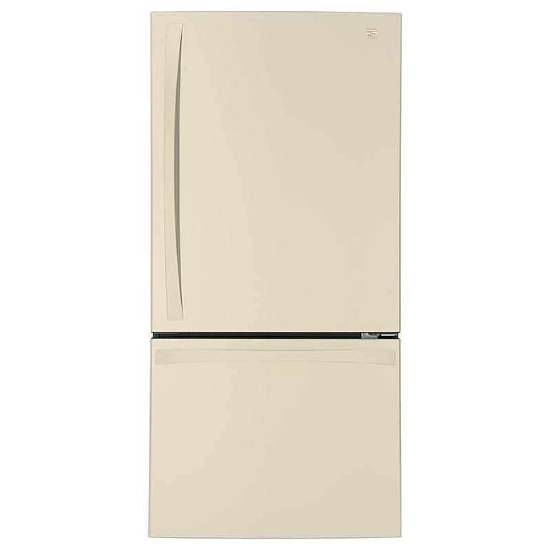Kenmore Elite 79044 24 1 Cu Ft 33 Bottom Freezer Refrigerator Ndash Bisque Bottom Freezer Refrigerator Refrigerator Fridge Organization