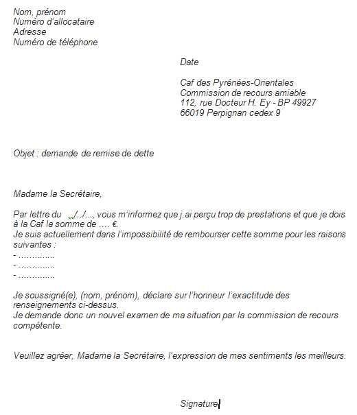 Ma Caf Demande De Remise De Dette Pour Les Allocataires De La Caf Des Pyrenees Orientales Caf Fr Pyrenees Orientales Pyrenees Lettre A