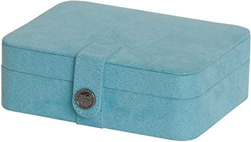 The Mele & Co. Giana Plush Fabric Jewelry Box  Lift Out Tray (Aqua) online shopping - Pptoplike - #fabric #giana #jewelry #online #plush #pptoplike #shopping - #TiffanyJewelry