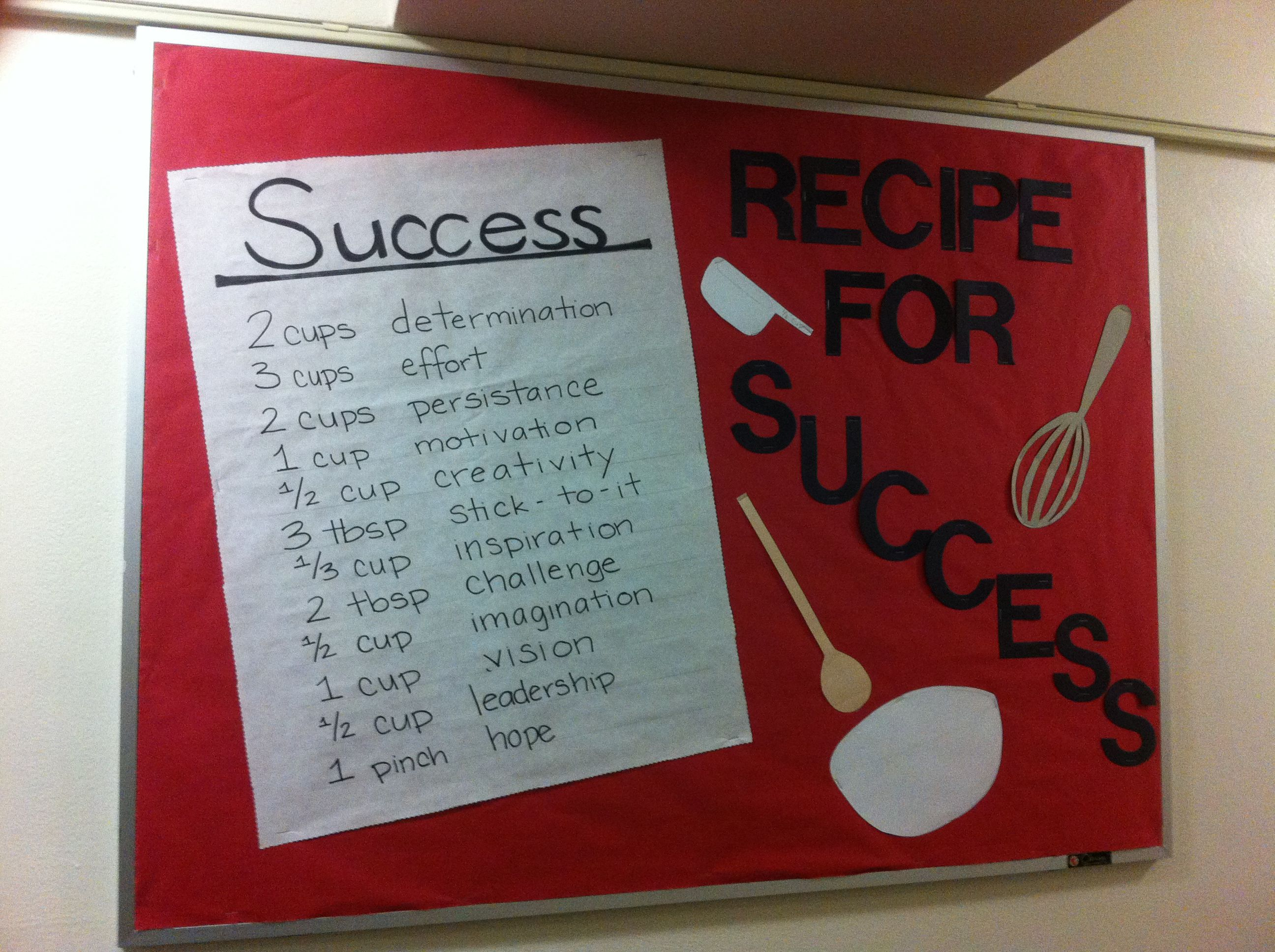 Another Recipe For Success Board Bulletin Boards Resident