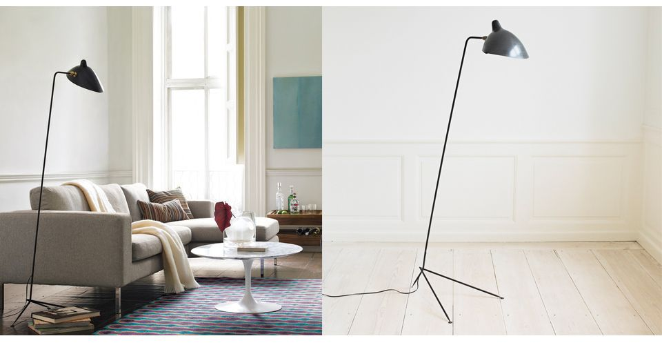 Serge Mouille One Arm Standing Floor Lamp Lampe Moderne Stehlampen