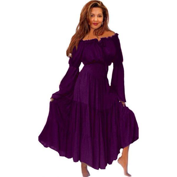 20off Dresses U252 Gypsy Maxi Peasant Long Dress Feminine 46