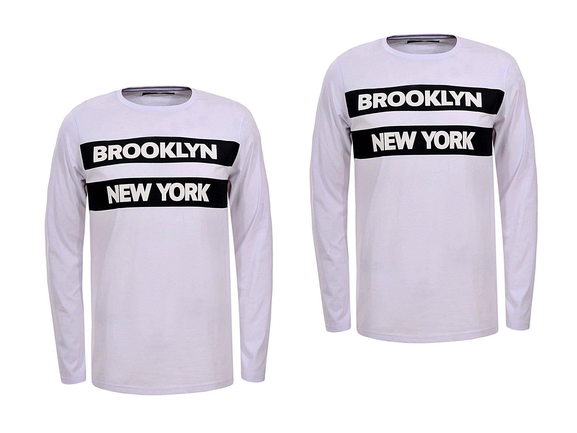 Longsleeve Bluzka Meska Z Dlugim Rekawem Bluza Xl 6936881063 Oficjalne Archiwum Allegro Brooklyn New York Sweatshirts Fashion