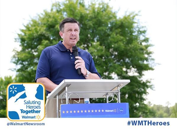 Walmart Market Manager Ronny Hayes Thanks Operation Homefront And