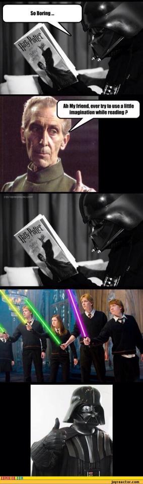 Harry Potter And The Star Wars Star Wars Humor Funny Star Wars Memes Star Wars Jokes