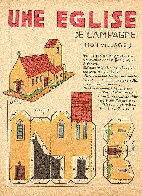 campagne eglise | Flickr - Photo Sharing! (vintage Church Paper Model)