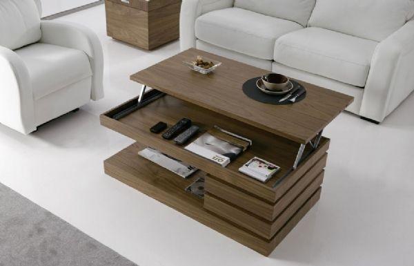 Mesa de centro con cajones 83 mesas de centro modernas - Mesas con cajones ...