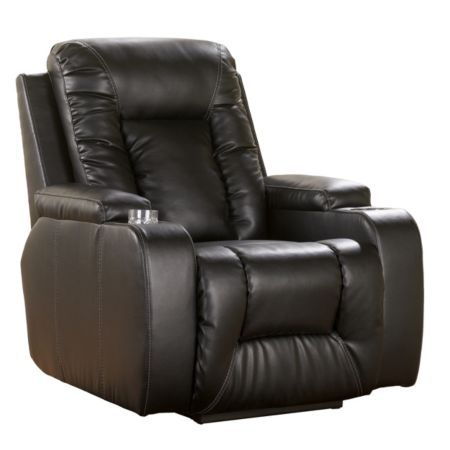 Home Solutions Ebony Durablend Power Home Theater Recliner Model