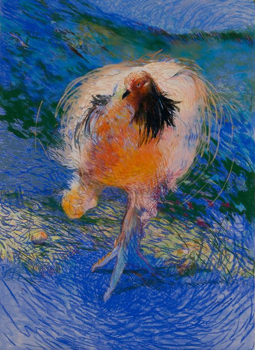 Blue Ranger, 2006, by Mary Sprague. Love the movement in this one