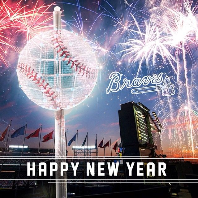 Haaaapppppppyyyyy New Year! ⚾️ - braves's photo on Instagram