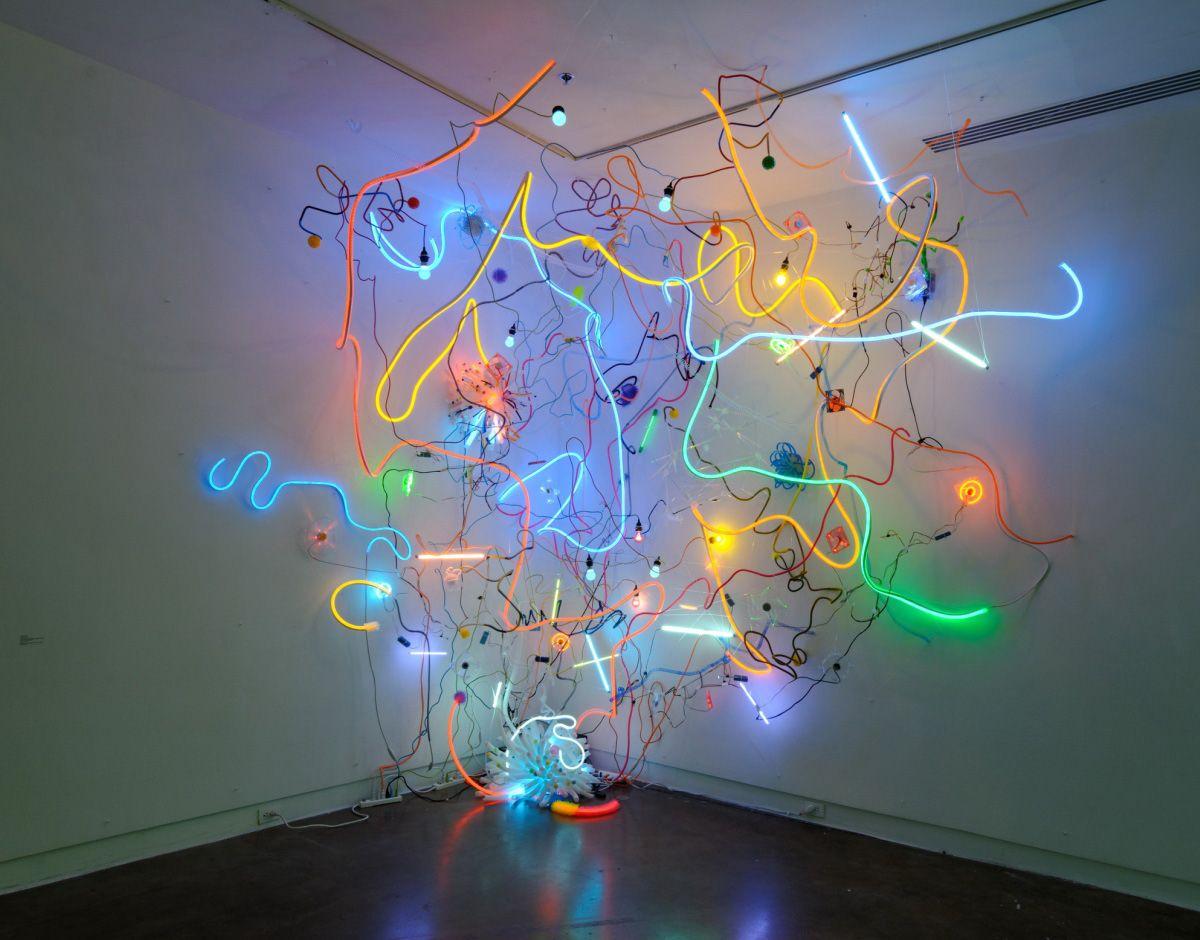 explosive light based installations by adela andea light