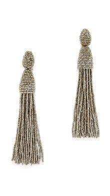 Oscar de la Renta Classic Chain Tassel Earrings | SHOPBOP