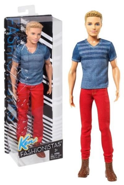 Barbie Fashionistas Ken Doll Red Jeans and Blue Tee CFG19