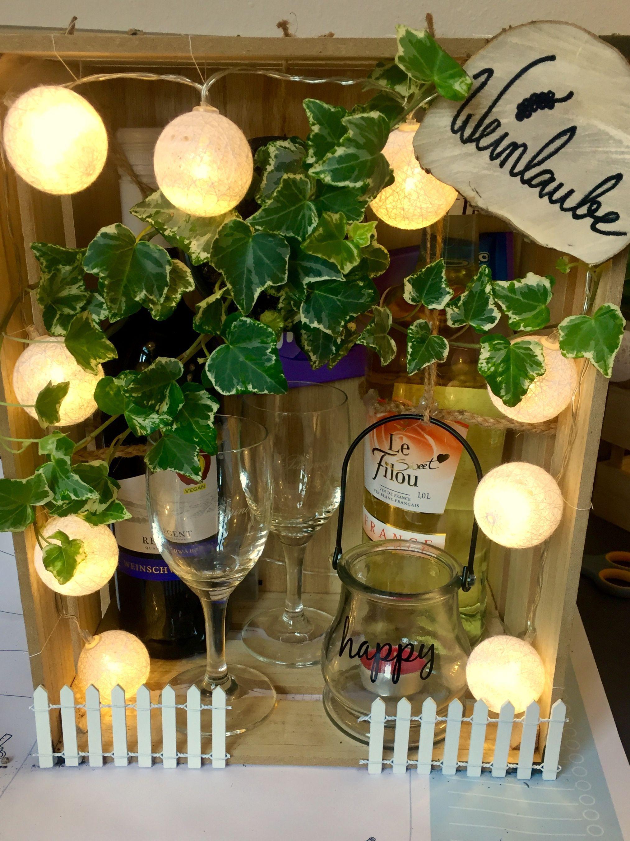 DIY Weinlaube #gutscheinbasteln Ideal für kreative Köpfe und ausgefallene Gesc…