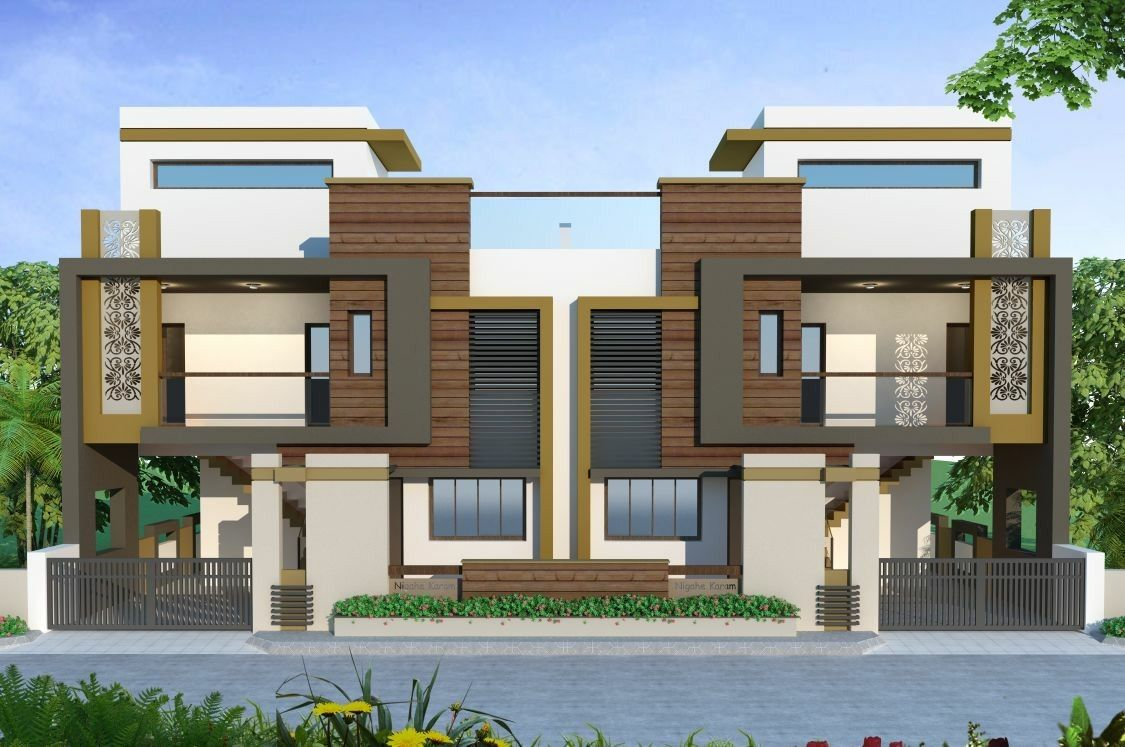 Building elevation house front designs indian plans new home also kanal dha modern contemporary design with swimming plool rh pinterest