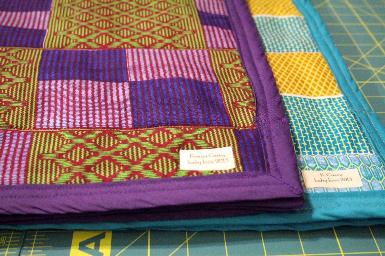 Afican print minky blanket