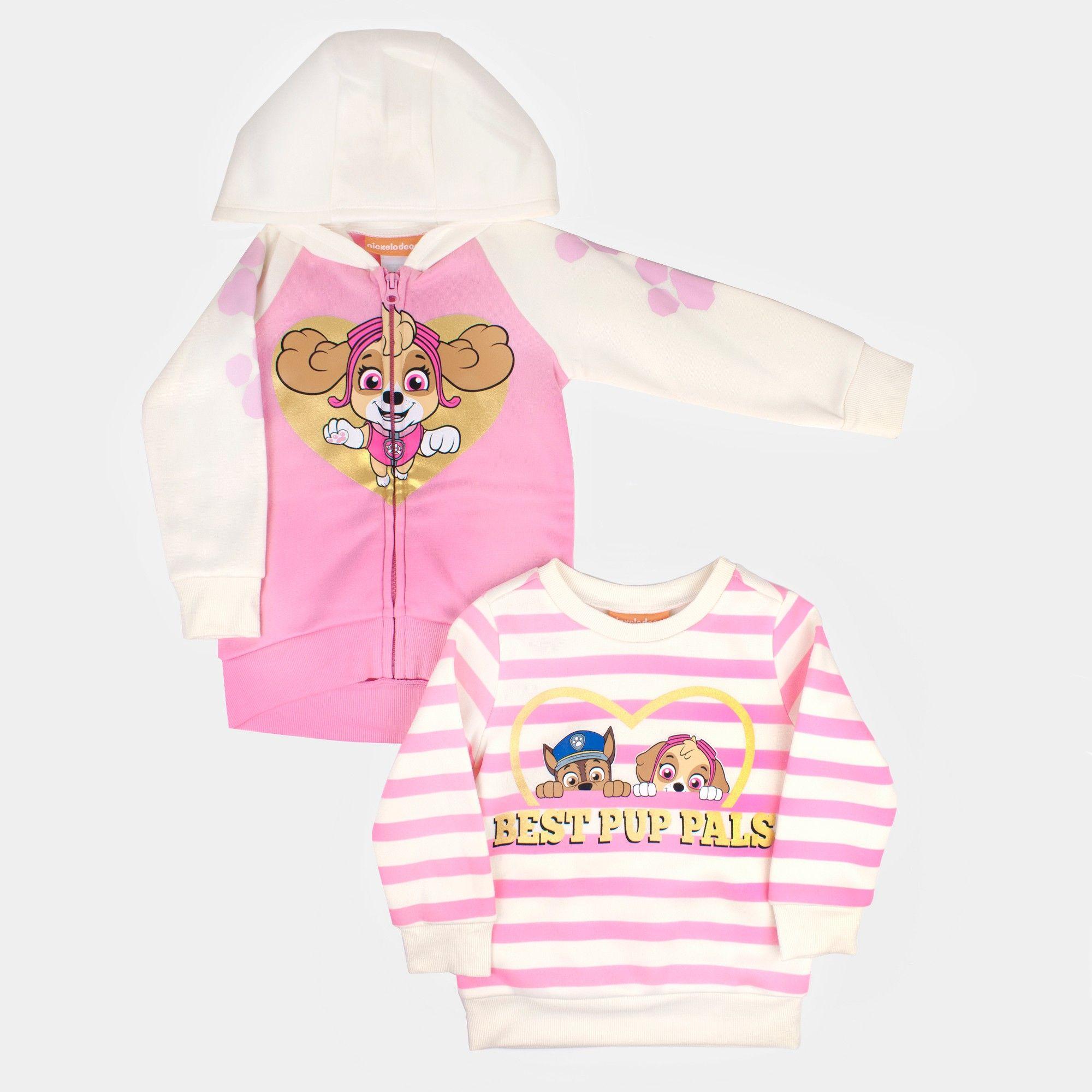9915eed67 Toddler Girls  2pk Nickelodeon Paw Patrol Hooded Sweatshirt - Pink ...