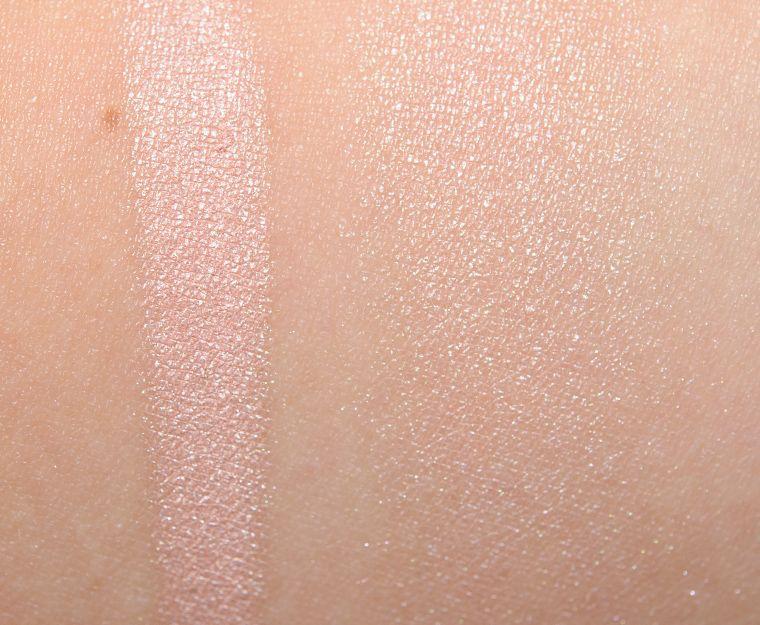 Lorac Moonlight Illuminating Highlighter Review Photos Swatches Laura Geller Diamond Dust Swatch Cheek Highlighter