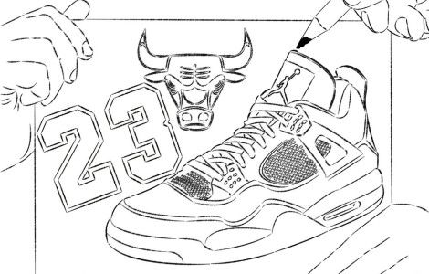 coloring printable pages of michael jordan