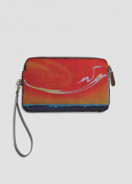 VIDA Leather Statement Clutch - Sunrises by VIDA K51iC