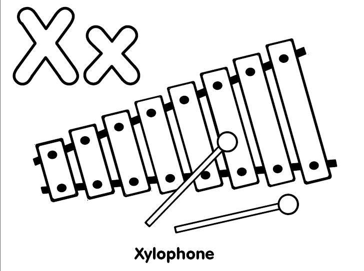 Xilófono Para Colorear Dibujos De Instrumentos Musicales Fondos De