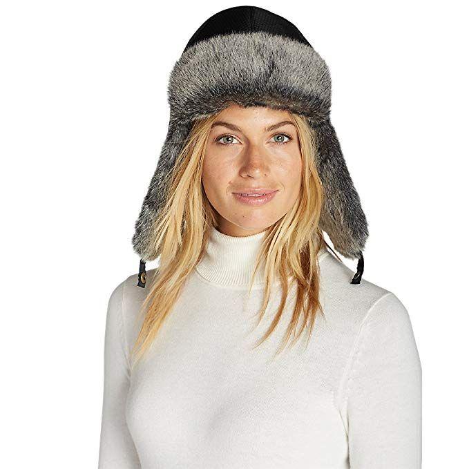 671a33da Eddie Bauer Women's Yukon Down Trapper Hat, Black Regular S/M | Best ...