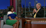 Michelle Obama Color Blocks Like a Pro (In Preen!) on The Late Show With David Letterman