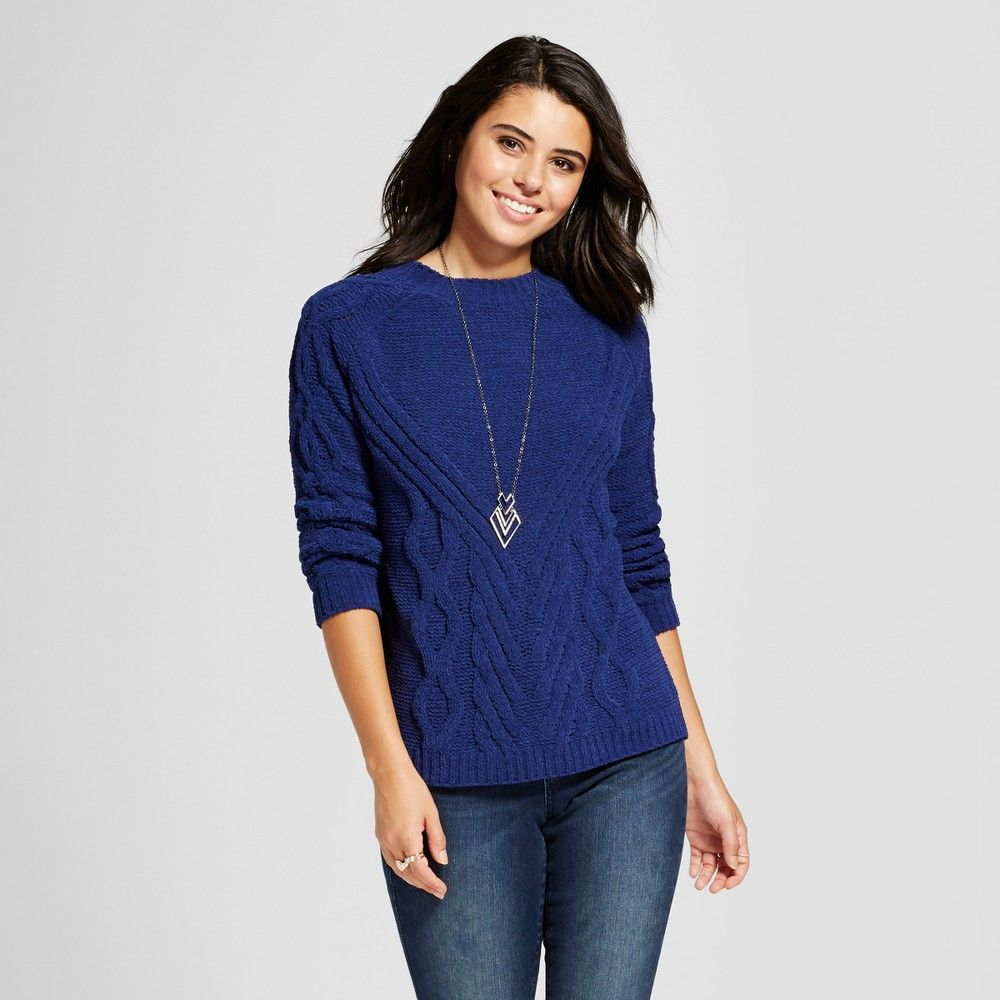 Women's Chenille Cable Knit Pullover Sweater - Love @ First Sight ...