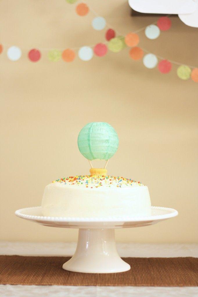 anniversaire enfant garcon Balloon cake Air balloon and Hot air