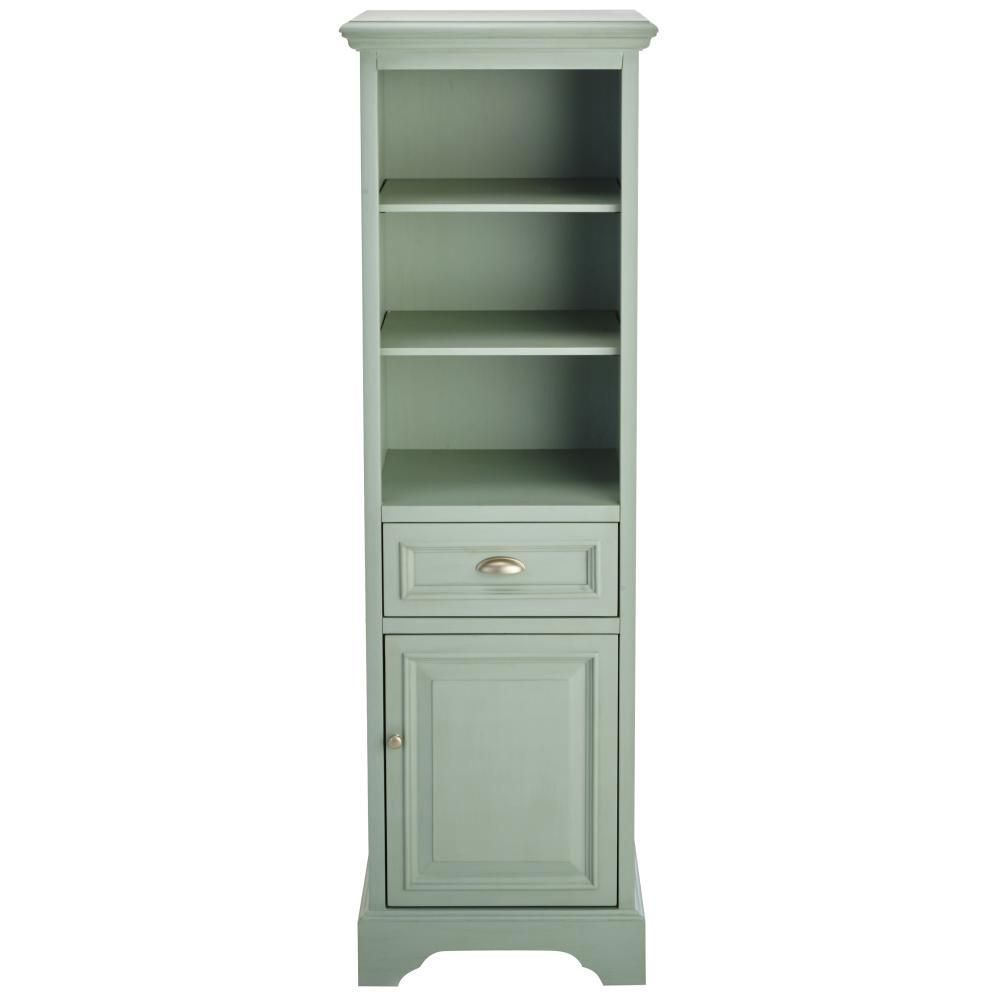 Home Decorators Collection Sadie 20 In W X 64 1 2 In H X 14 In D Bathroom Linen Storage Cabinet In Antique Light Cyan 9673400350 With Images Linen Storage Cabinet Ikea Storage Cabinets Linen Storage