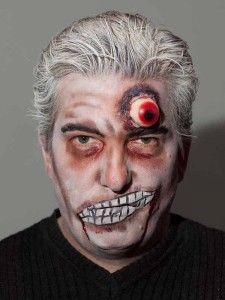 zombie maske mit applikation schminken halloween. Black Bedroom Furniture Sets. Home Design Ideas