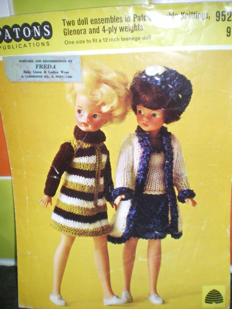 Pedigree Sindy Knitting Pattern Cate 60s All 1112 Dolls Vgc