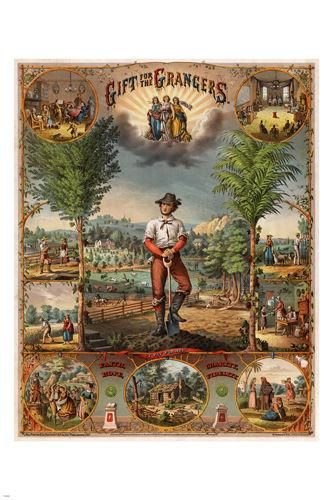 1873 VINTAGE gift for the grangers PROMOTIONAL POSTER 24X36 farming