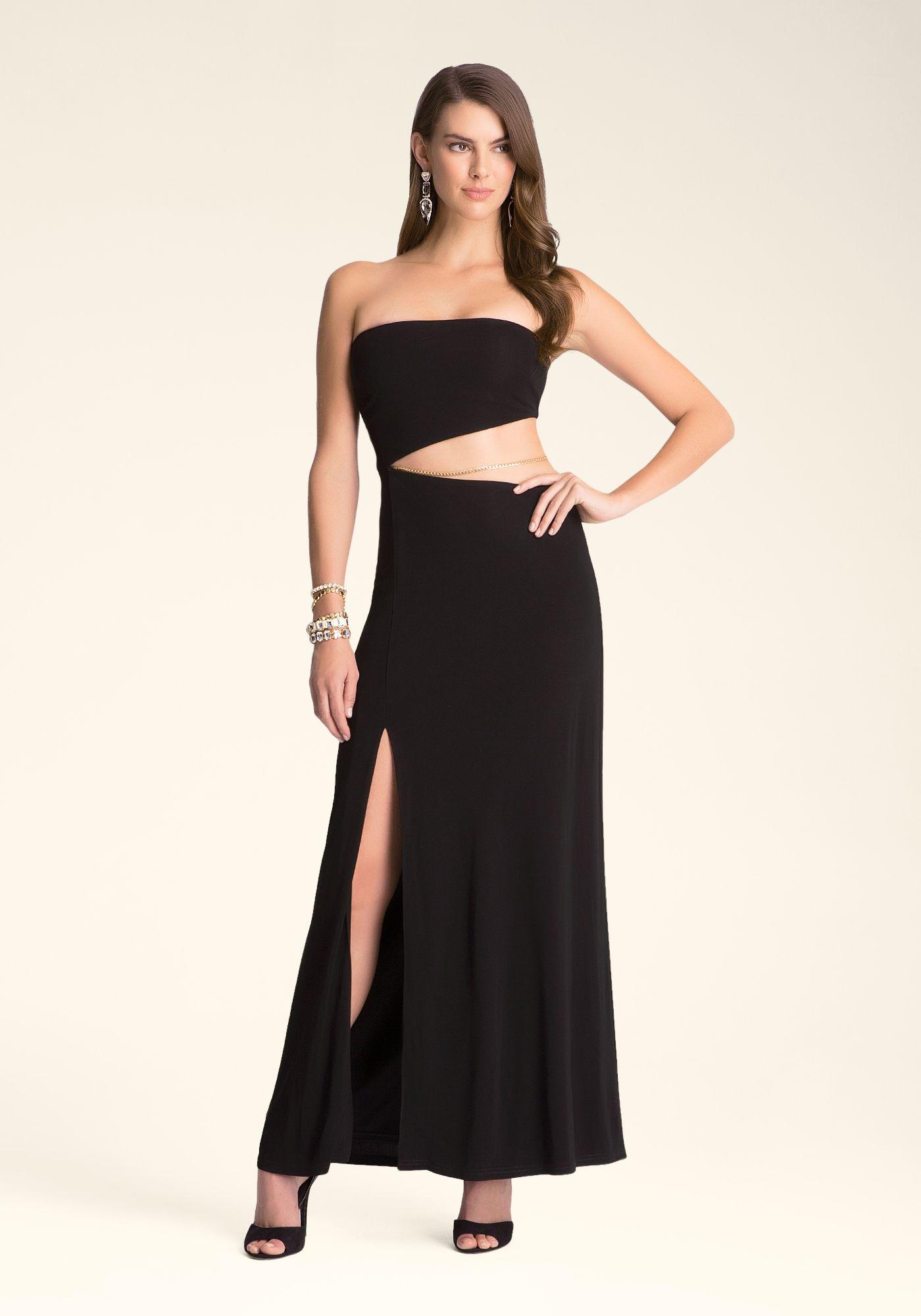 Bebe Strapless Cutout Maxi Dress Veronica Taylor 228552 Blk Cutout Maxi Dress Dresses Glam Maxi Dress [ 2000 x 1400 Pixel ]