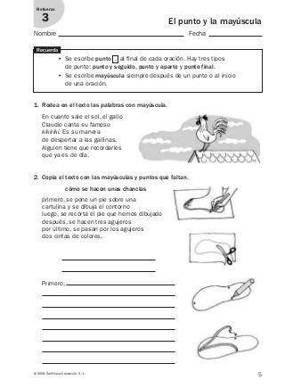 Lengua Repaso Y Ampliación 3º Primaria Santillana Signos De Puntuacion Tecnicas De Enseñanza Lectura De Comprensión