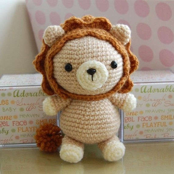 Lion Gurumi Crochet Pattern | Crochet patrones, León y Hilo