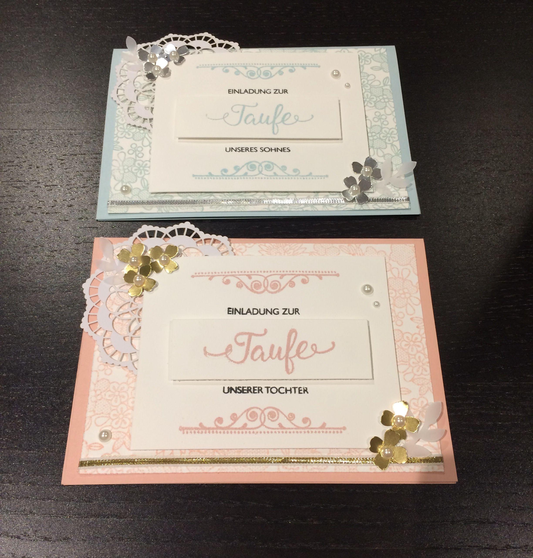 Stampin Up Taufkarte Junge Und Mädchen Segensfeste