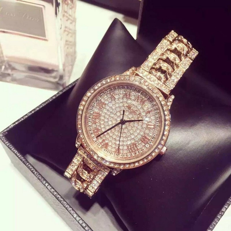 29.75$  Watch here - http://aiy48.worlditems.win/all/product.php?id=32738063569 - 2016 New Fashion Stainless Steel Gold & Silver Band Quartz Watch Luxury Women Full Rhinestone Watches Valentine Gift reloj mujer