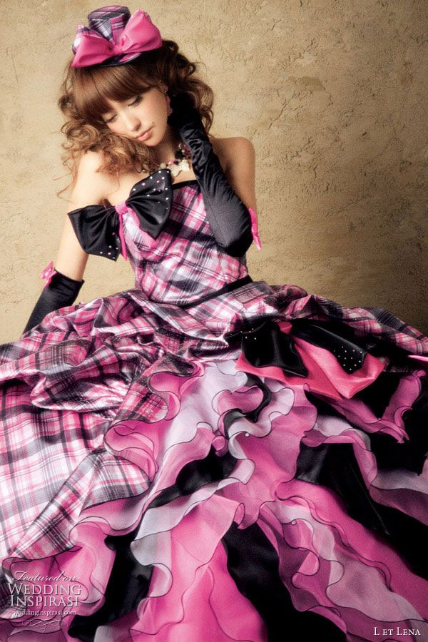 L et Lena Wedding Dresses | Japanese models, Tartan and Wedding dress