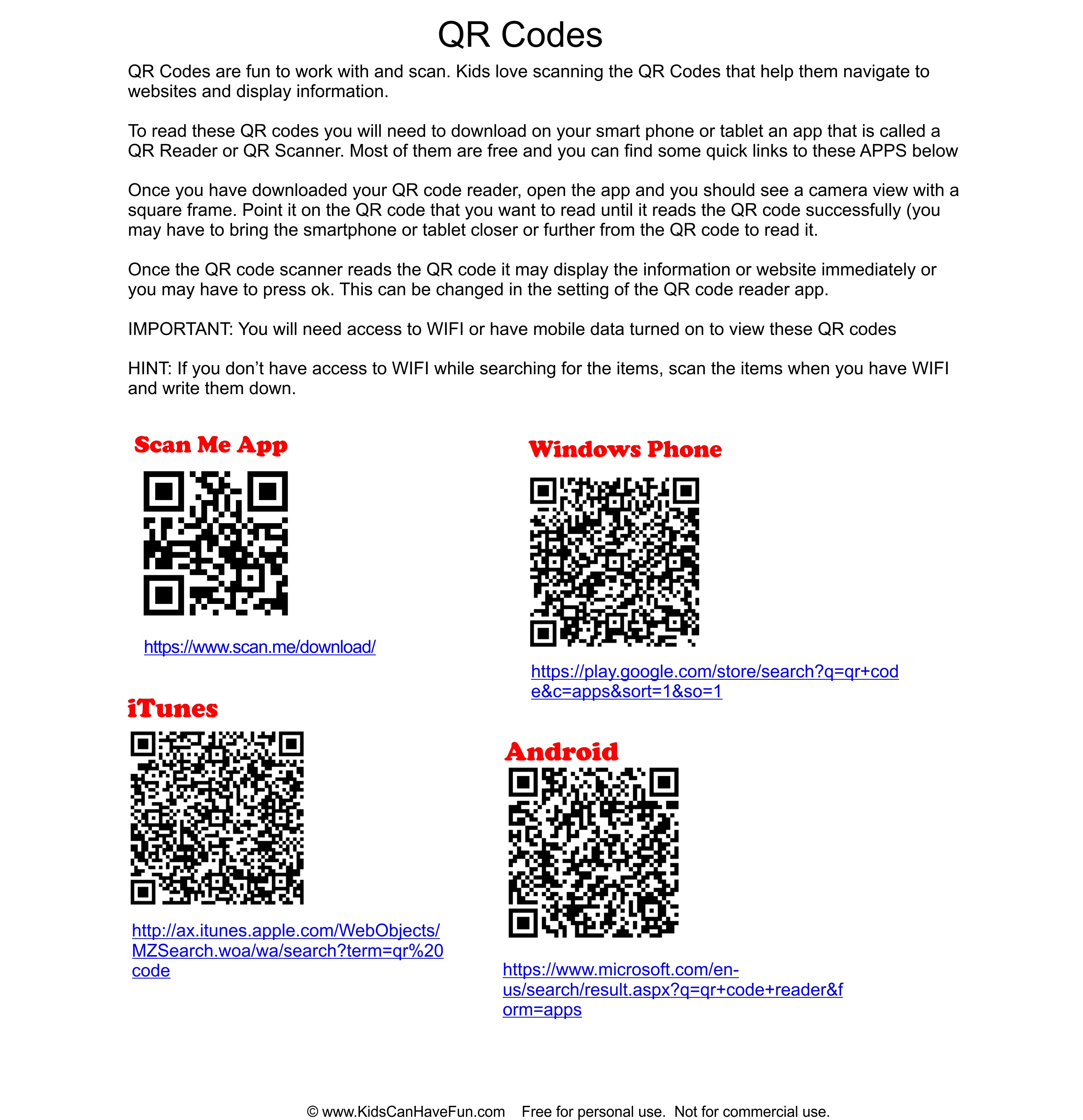 Pin By Kidscanhavefun On Qr Codes For Kids Classroom Preschool Games
