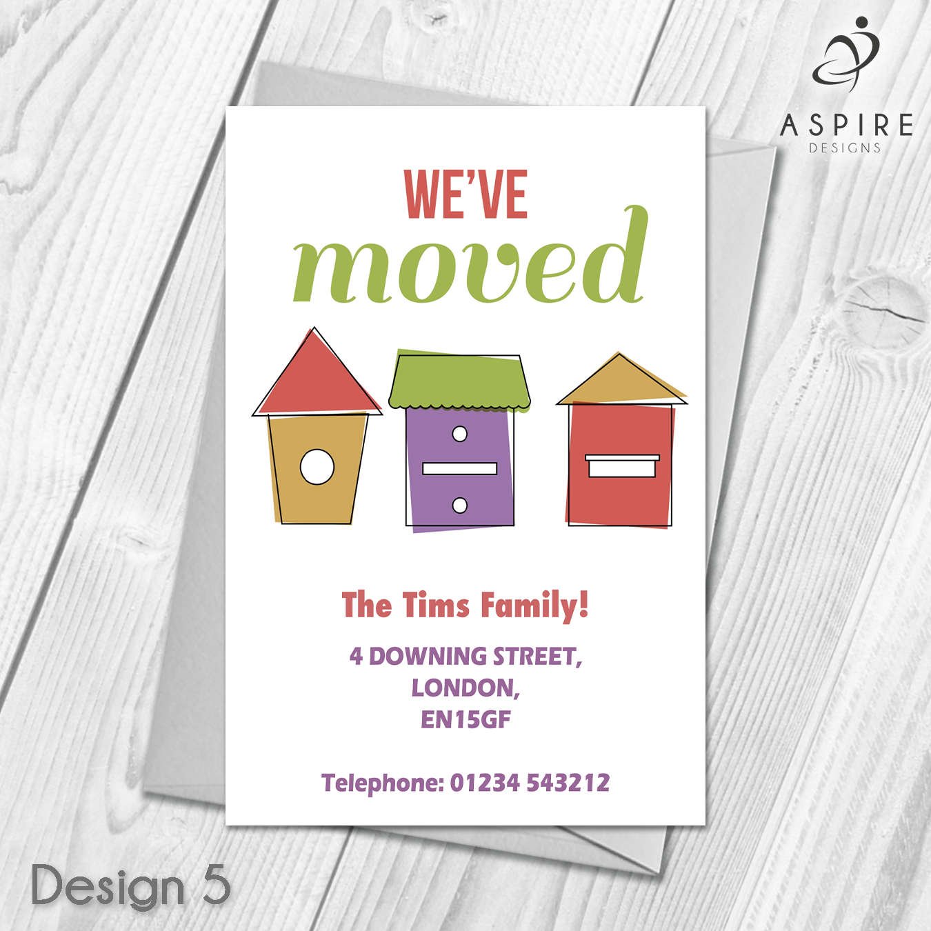 Personalised Change of Address/New Home/Moving House Cards ...