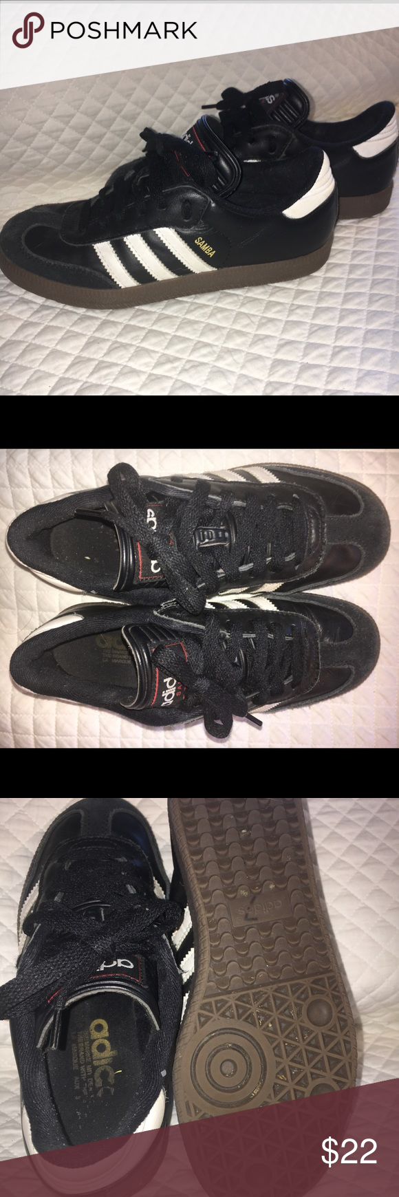 Adidas Samba clasicos zapatilla Adidas zapatos, negro Suede y Adidas