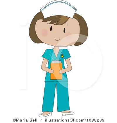 Free Nurse Clip Art Royalty Free Rf Nurse Clipart Illustration By Maria Bell Stock Nurse Clip Art Clip Art Nurse