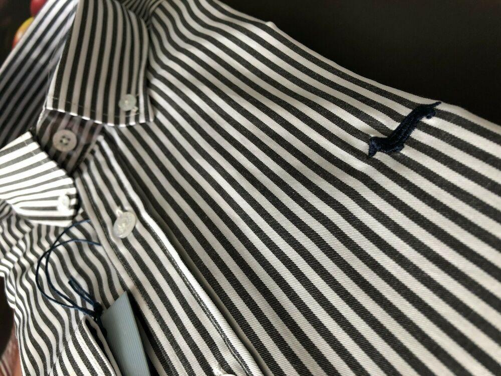 premium selection 5e9b3 32306 Camicia HARMONT & BLAINE Righe Bianca E Nera Button Down ...