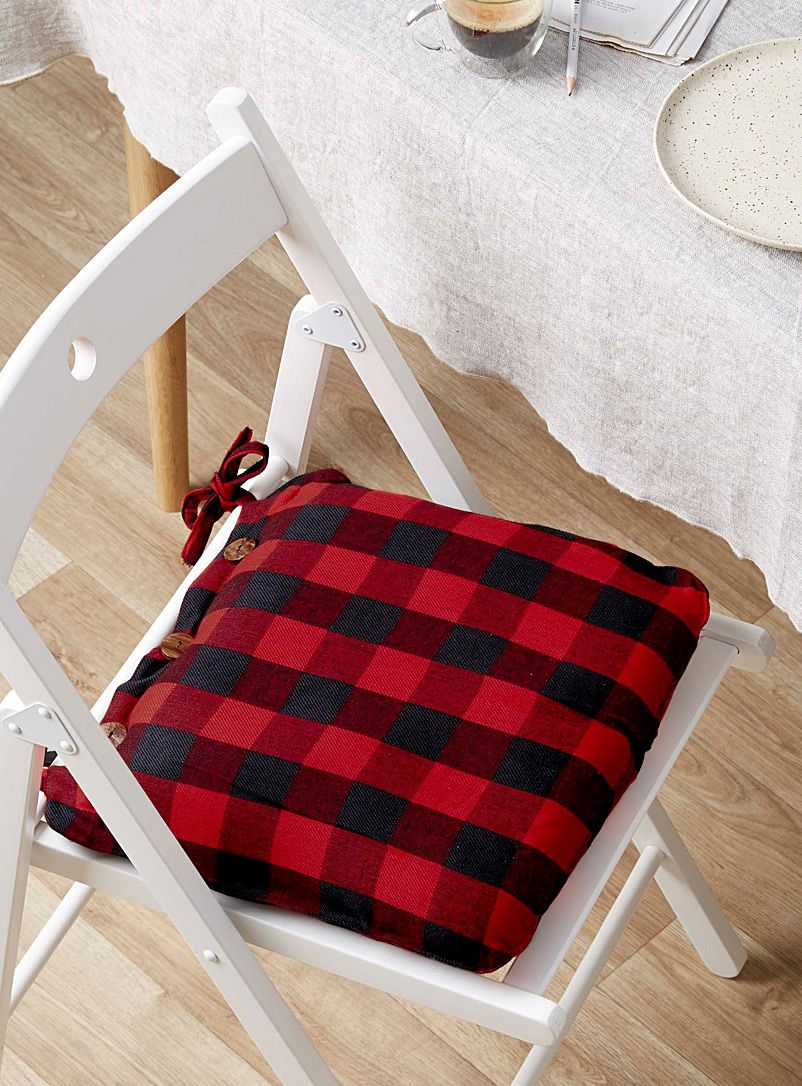 Buffalo Check Chairpad 40 X 40 Cm Plaid Decor Buffalo Plaid Decor Table Accessories