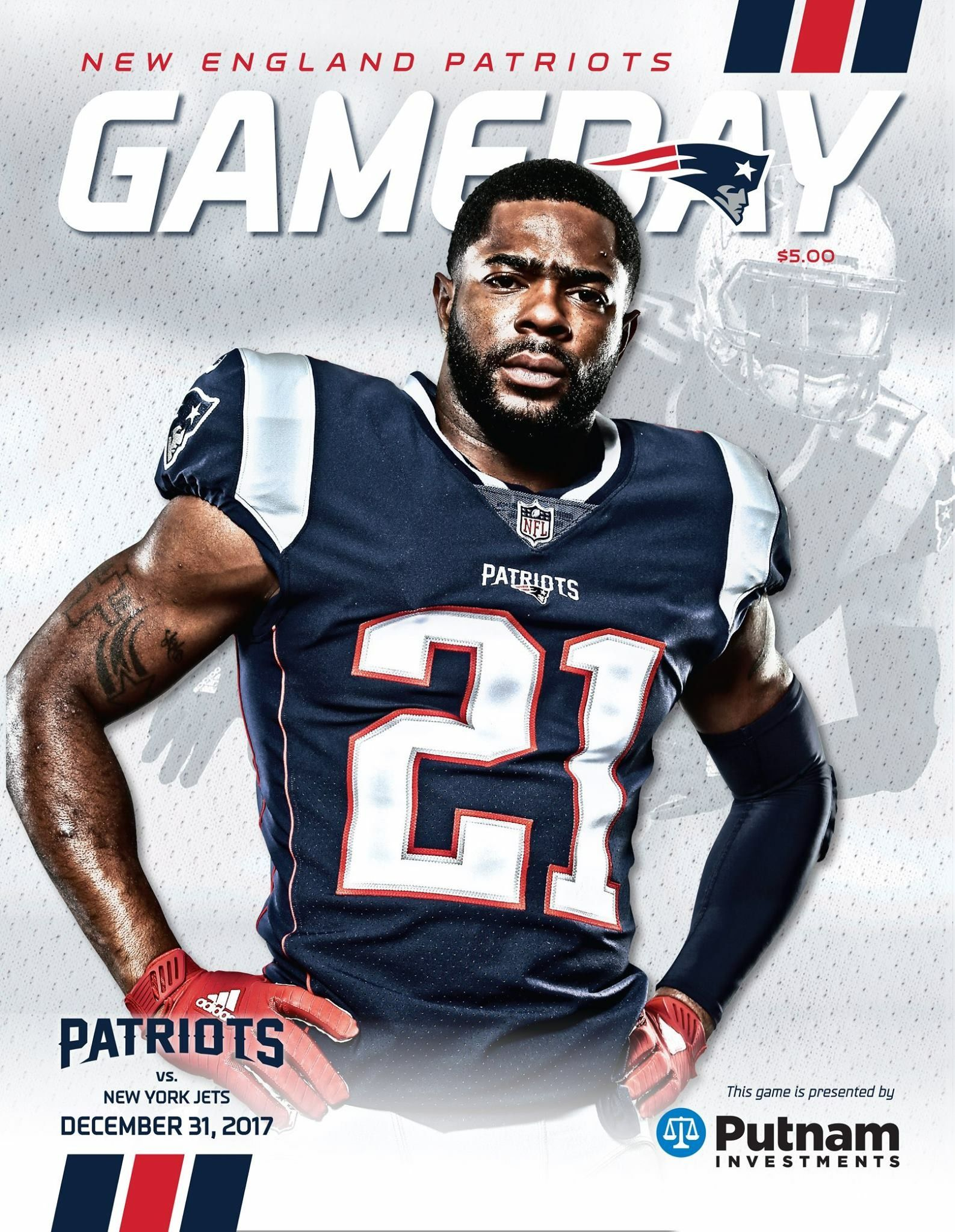 Gameday Program Cover Week17 Nyjvsne Bundleupbaby New England Patriots Merchandise New York Jets Patriots Football