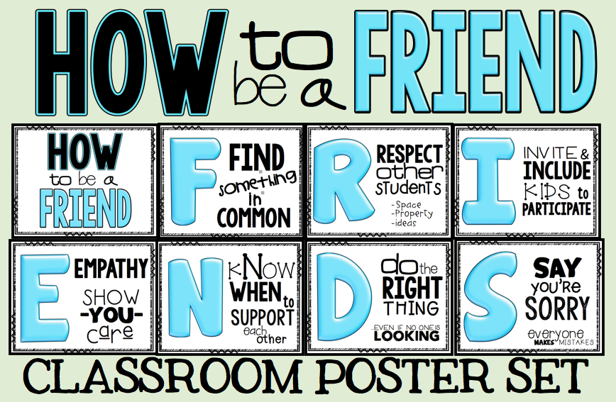School Is Tough. Teach Your Kids to Relax and Be A Friend ... Friends With Kids Poster